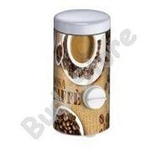 Meliconi rozsdamentes kávétartó és adagoló kávémintás 37000524702BA