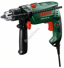 Bosch PSB530RE ütvefúró fogaskoszorús tokmánnyal, kofferben 0603127023