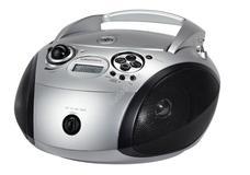GRUNDIG RCD-1445S Hordozható USB-s rádiós CD lejátszó SILVER