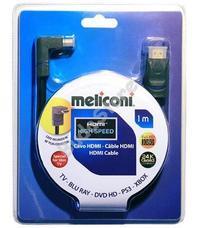 Meliconi H1M90 HDMI kábel 90°-os csatlakozóval 1 m