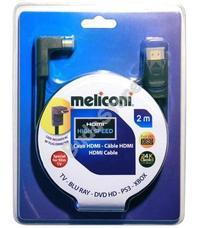 Meliconi H2M90 HDMI kábel 90°-os csatlakozóval 2 m