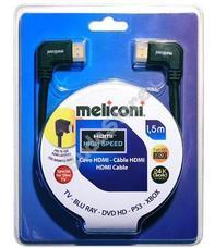 Meliconi H1,5M90 HDMI kábel 90°-os csatlakozóval 1,5 m
