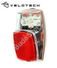Velotech Hátsó lámpa 1LED Retro 34610