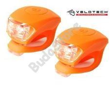 VELOTECH Villogó szett 2LED narancs 34684