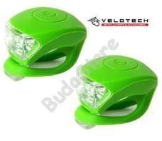 VELOTECH Villogó szett 2LED zöld 34686