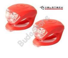 VELOTECH Villogó szett 2LED piros 34690