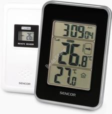 SENCOR SWS 25 BS Hőmérő vezeték nélküli hőérzékelővel fekete/ezüst SWS25BS