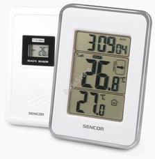 SENCOR SWS 25 WS Hőmérő vezeték nélküli hőérzékelővel fehér/ezüst SWS25WS