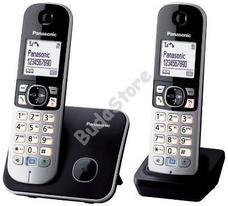 PANASONIC KX-TG6812PDB vezeték nélküli DUO DECT SMS telefon