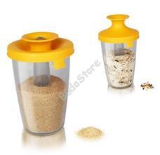 Vacu Vin PopSome cukor és rizs tároló/adagoló 0,6L sárga 8960449