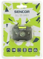 SENCOR SLL 55 Fejlámpa szürke 3W+2R 3XAAA SLL55