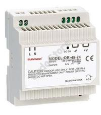SUNWOR DR-45-12 DIN sínre szerelhető kapcsolóüzemű tápegység 12 VDC 3.8 A DR4512