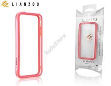 Apple iPhone 5 védőkeret Bumper Gecko Lianzoo átlátszó/piros 41-GG157