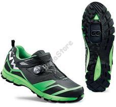 NORTHWAVE ALL TERRIAN MISSION PLUS Cipő 44-es fekete/fluo zöld 80163031-02-44