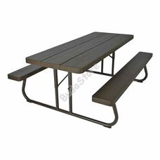 LIFETIME asztal és sörpad összecsukható barna 3121567 183x76cm