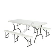 LIFETIME összecsukható asztal 2 pados szett 3121570