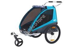 THULE Utánfutó COASTER XT kerékpár szett + sétálókerék kék 10101803