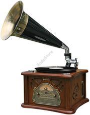 ROADSTAR HIF-1850 TUMPK Tölcséres Hi-Fi retro lemezjátszó HIF1850TUMPK
