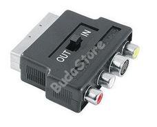 HAMA 42357 AV adapter Scart-3RCA+SVHS kapcsolható