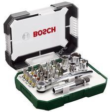 Bosch 26 részes csavarozófej és dugókulcs készlet 2607017322