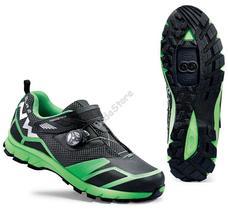 NORTHWAVE ALL TERRIAN MISSION PLUS Cipő 40-es fekete/fluo zöld 80163031-02-40