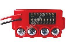 Global Fire MAM RED manuális címző modul kézi jelzésadókhoz piros 107467