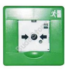 EDS ACB Kilépési nyomógomb kézi jelzésadó zöld 113105