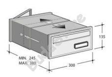 SILMEC OpenAir 311 ezüst beépíthető postaláda 32-311.72