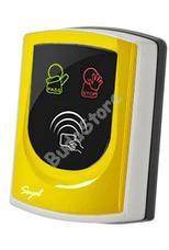 SOYAL AR-725UDM-W Kártyaolvasó hálózati központokhoz vagy önálló vezérlőkhöz sárga