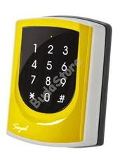 SOYAL AR-725KM Mifare Kártyaolvasó és kódbillentyűzet hálózathoz/önálló vezérlőkhöz sárga