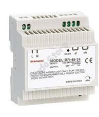 SUNWOR DR-45-24 DIN sínre szerelhető kapcsolóüzemű tápegység DR4524