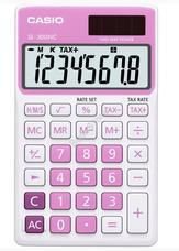 CASIO SL 300 NC/PK Zsebszámológép pink 45008842 SL300NC/PK