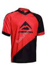 MERIDA Freeride/Enduro rövid Mez piros/fekete V-nyakú L-es