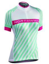 NORTHWAVE LOGO3 WMN női mez rövid fehér/zöld XL-es