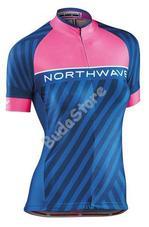 NORTHWAVE LOGO3 WMN női mez rövid pink fluo/kék M-es