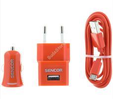 SENCOR SCO 515-000RD USB 1m/hálózat/auto töltő SCO515000RD