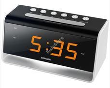 SENCOR SDC 4400W ébresztőóra/USB töltő SDC4400W