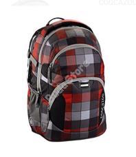 COOCAZOO hátizsák 129953 JOBJOBBER 2 piros/szürke kockás