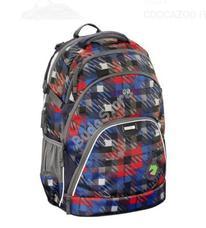 COOCAZOO hátizsák 129414 EVVERCLEVVER piros/kék kockás