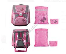 HAMA 138674 Iskolatáska 3 részes szett rózsaszín pillangó