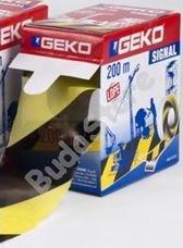 GEKO Kordonszalag 70 mm 200 m sárga/fekete 3136099
