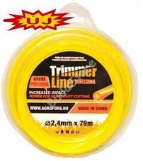 Trimmer line fűnyíró damil kerek 2.4mm 87m