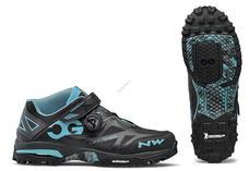 NORTHWAVE Cipő NW ALL TER.ENDUROMID 45 fekete/aqua