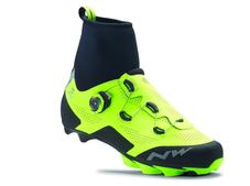 NORTHWAVE Cipő NW MTB RAPTOR ARCTIC GTX 43,5 téli, fluo sárga-fekete