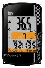 BRYTON Computer Bryton Rider 10E GPS komputer, fekete BRRIDER10EB