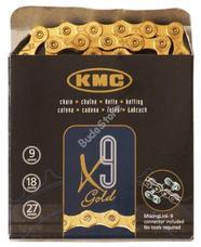 KMC biciklilánc X9 GOLD