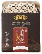 KMC biciklilánc X9 SILVER