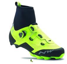 NORTHWAVE Cipő NW MTB RAPTOR ARCTIC GTX 42, téli, fluo sárga-fekete