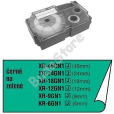 CASIO XR 12 GN1 Címkéző szalag XR12YGN1