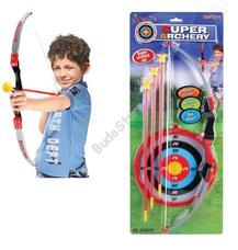 G21 Játék íj céltáblával és 3 nyílvesszővel fekete/fehér/piros 690824